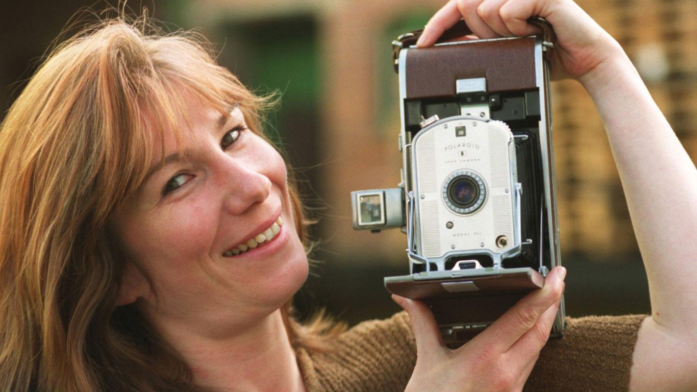 Die erste Polaroid-Kamera