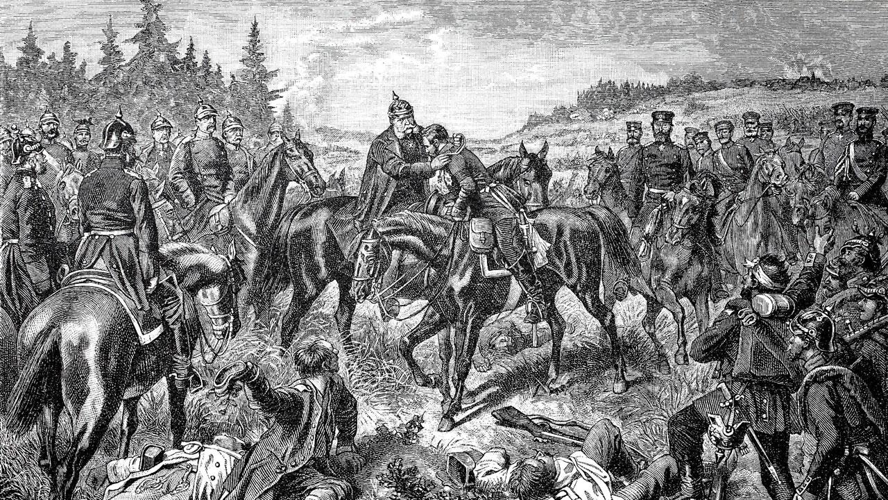 Welche Schlacht führte zur Gründung des deutschen Reichs?