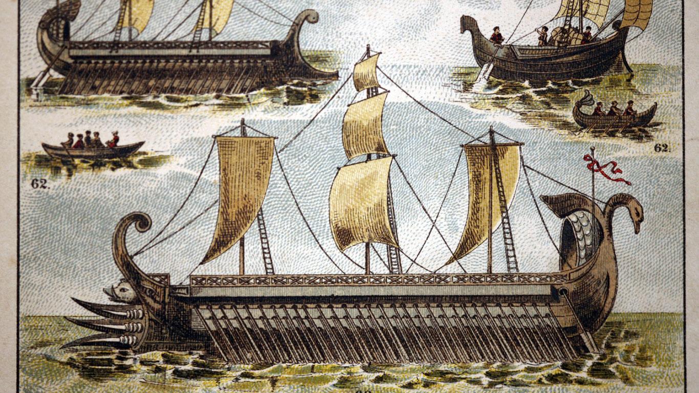 Die Schiffe der Phönizier, Griechen und Römer