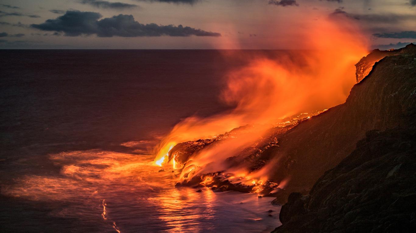 Der aktivste Vulkan der Erde ist der Kilauea. Sehen Sie in unserer Galerie die beeindruckenden Bilder von dem Vulkan auf Hawaii!