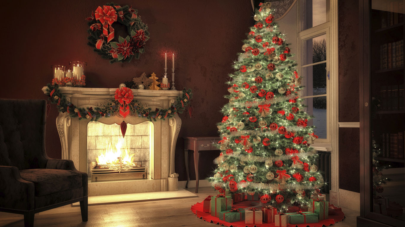 Wo Stand Der Erste Weihnachtsbaum.Die Tanne Im Wohnzimmer Warum Stellen Wir Weihnachtsbäume Auf