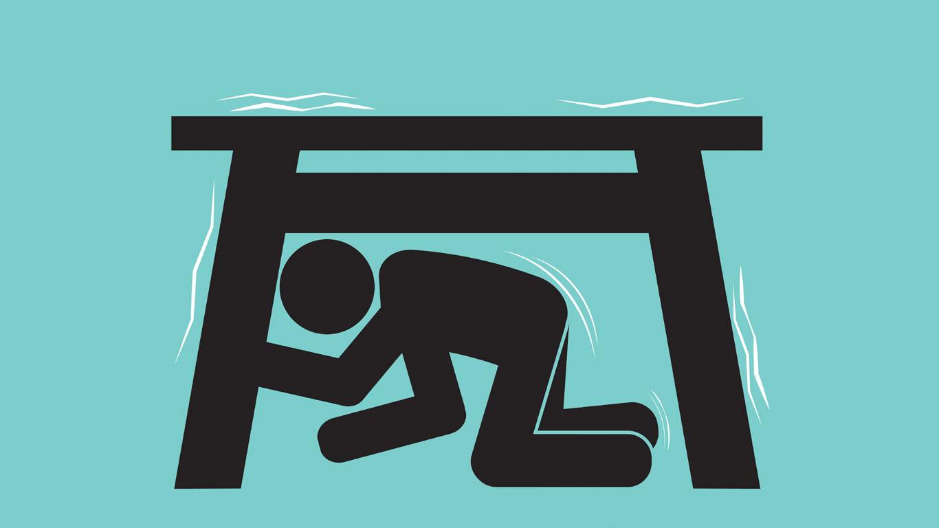 Ein Türrahmen ist bei einem Erdbeben sicher