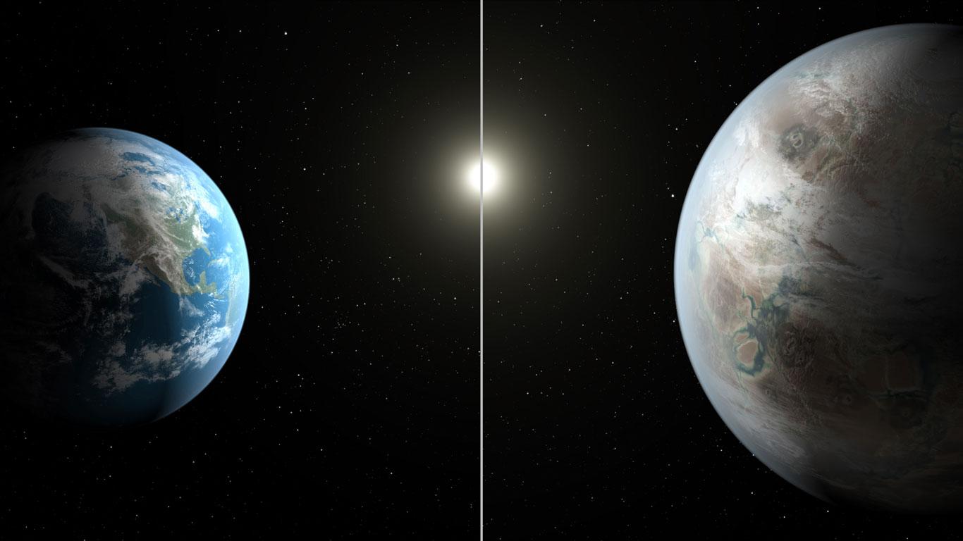 Erde und Kepler-452b