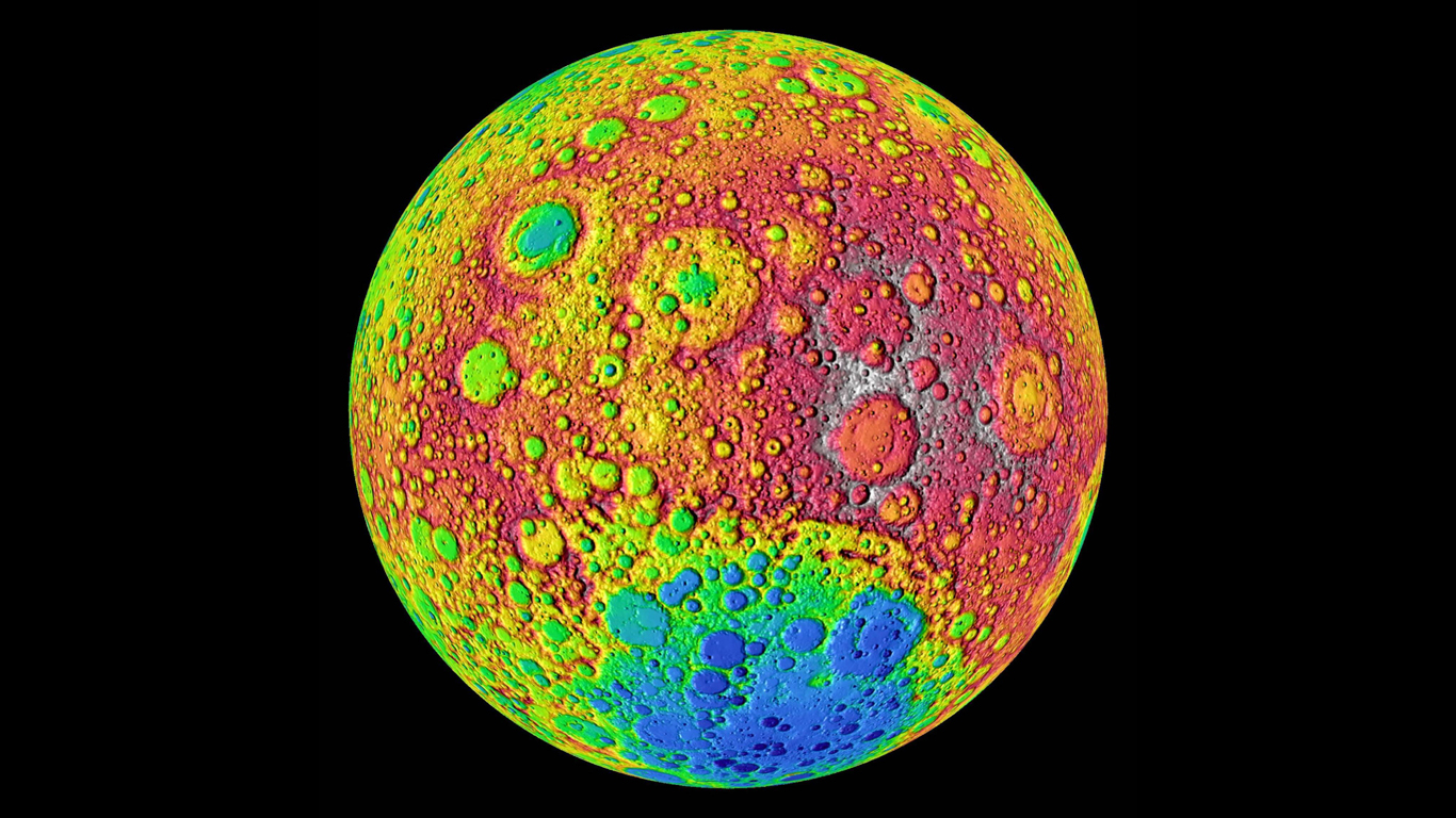 Wir sehen immer dieselbe Seite des Mondes