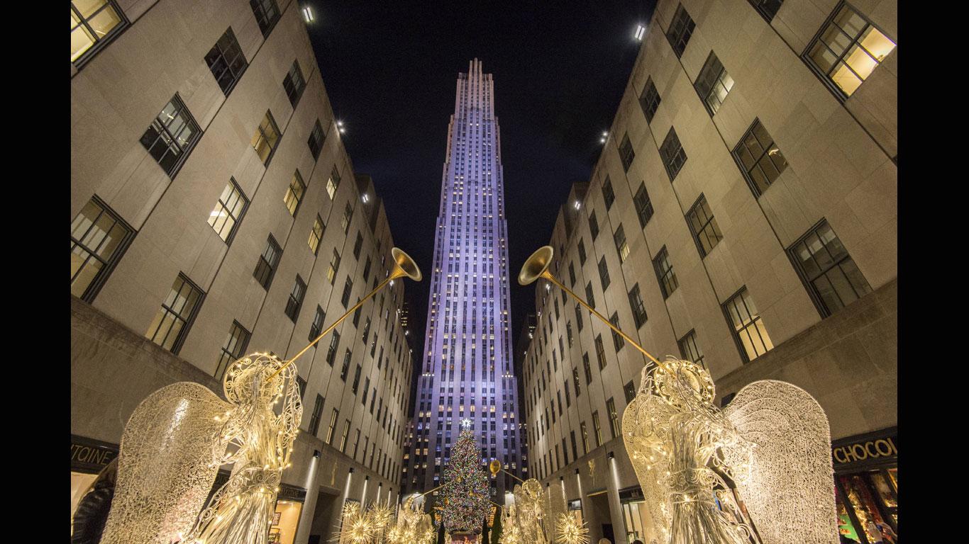 New York schwelgt im Lichtermeer
