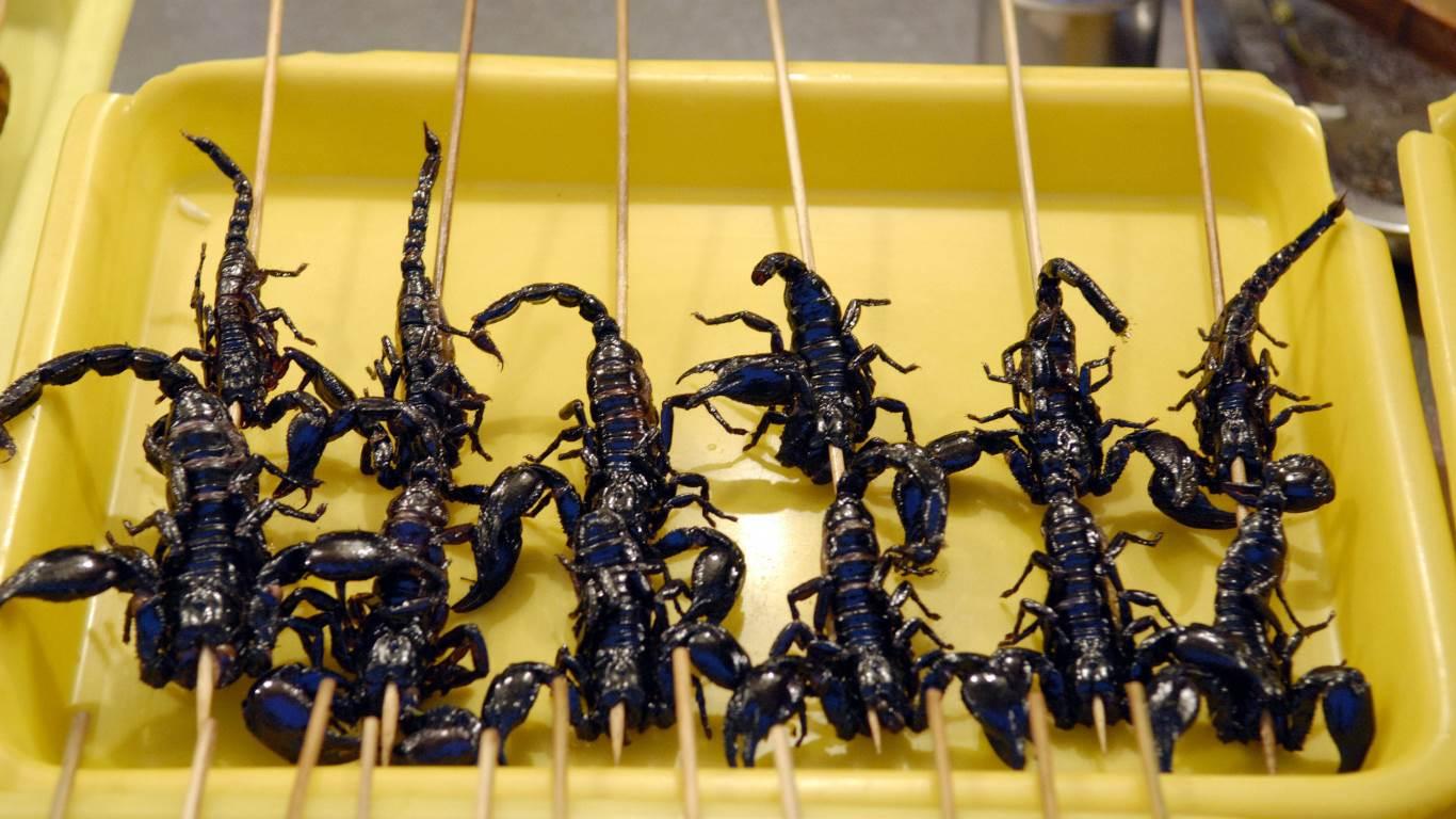 Frittierte Skorpione