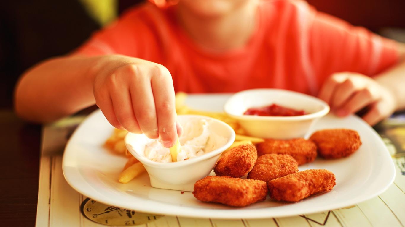 Fleischreste in Panade – Chicken Nuggets