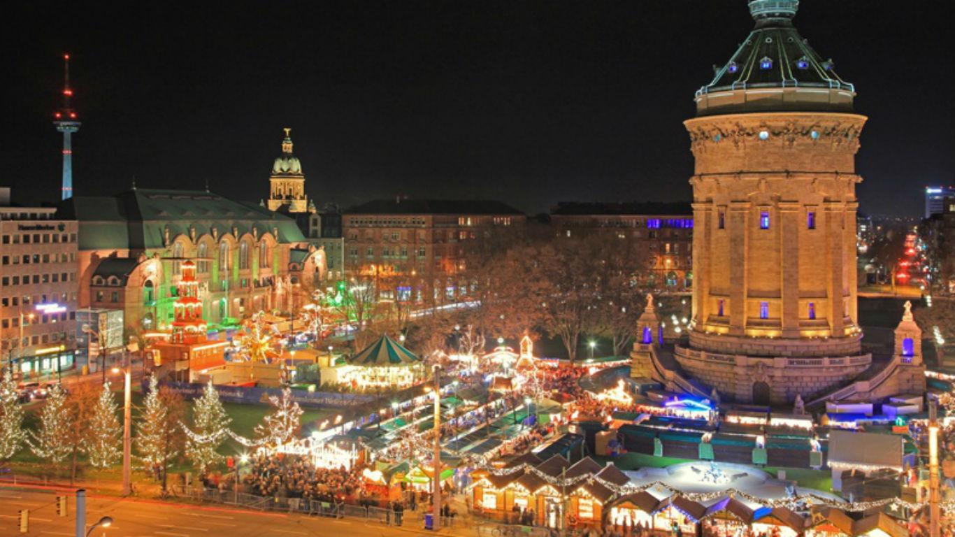 Mannheim, ein Glitzermeer