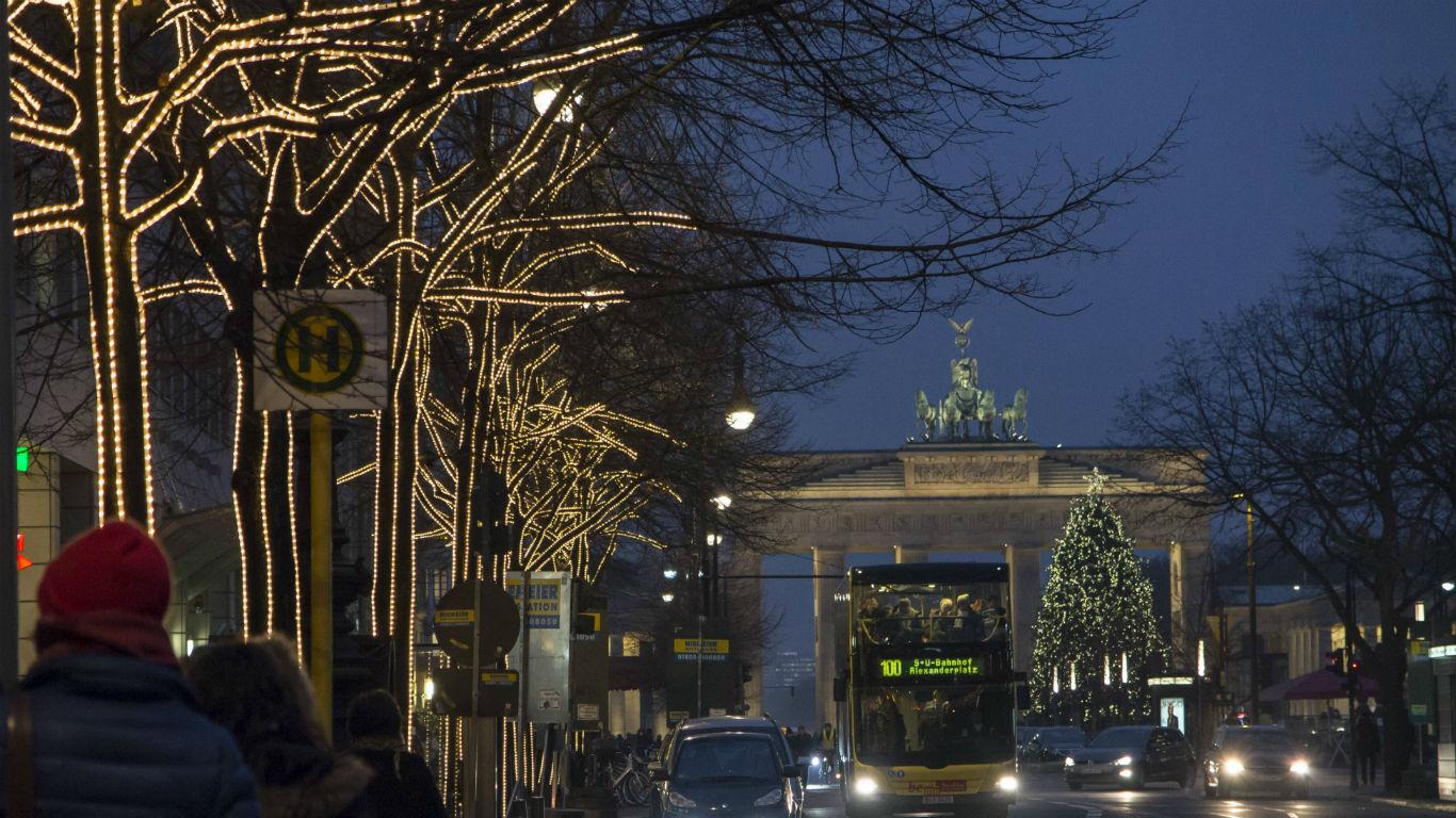 Leuchtende Linden in Berlin