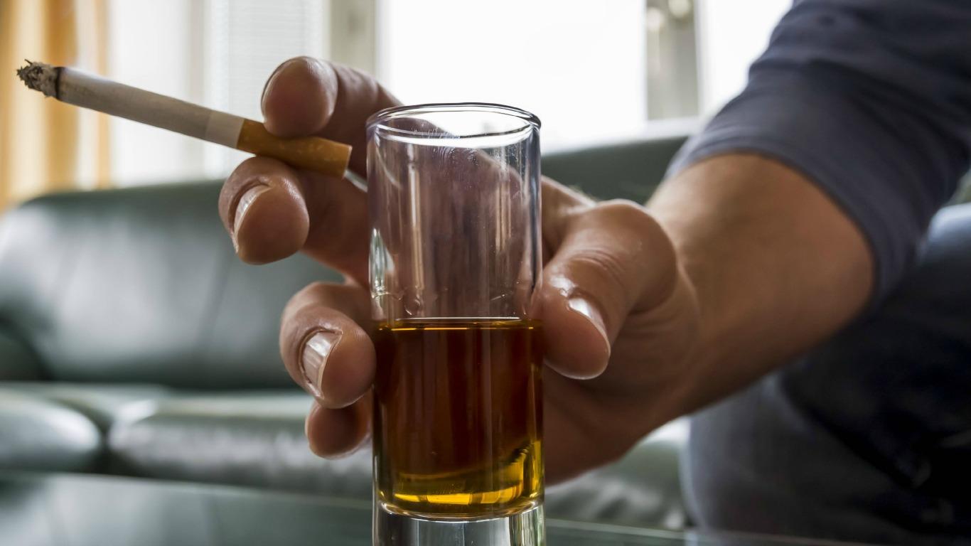 Alkohol wärmt von innen