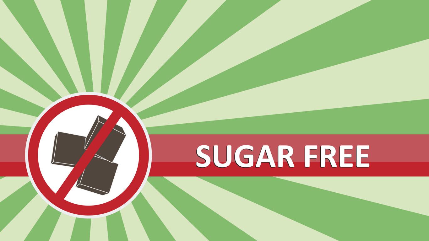 Ohne Zucker heißt Zuckerfrei