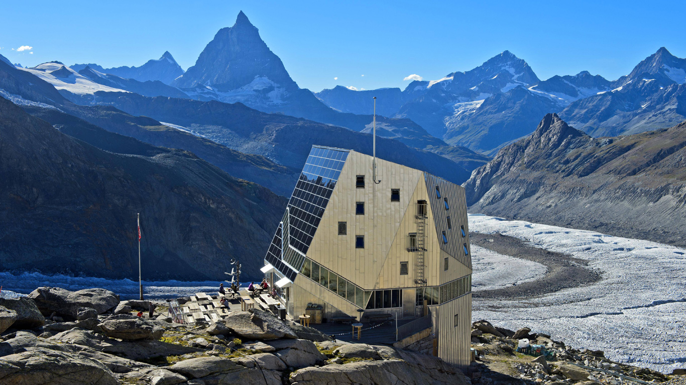 Monte-Rosa Hütte (Walliser Alpen, Schweiz)