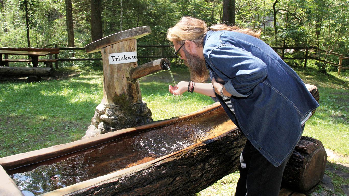 Bergwasser oder Trinkwasser