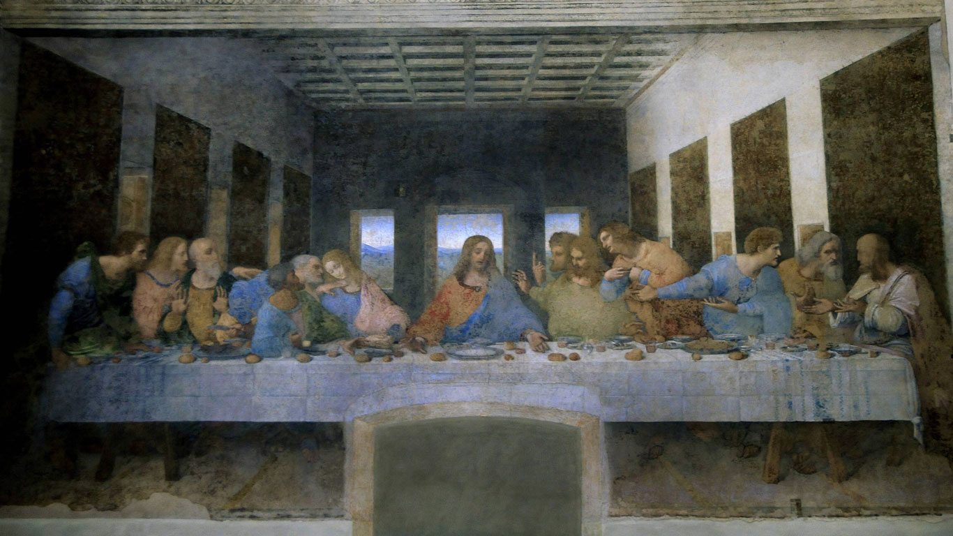 """Santa Maria delle Grazie, Mailand – """"Das Abendmahl"""" von Leonardo da Vinci"""