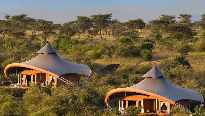 Zelt mit allen Annehmlichkeiten – Luxus-Lodge in Kenia