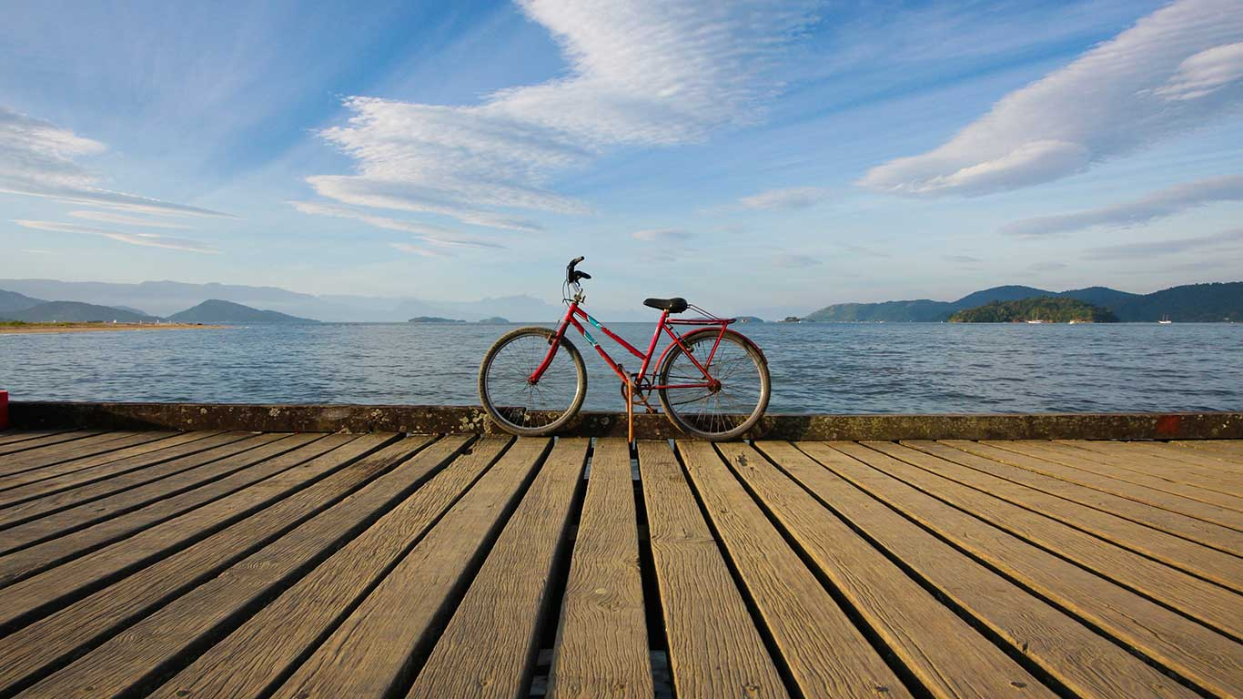 Biken an der Copacabana: Rio de Janeiro