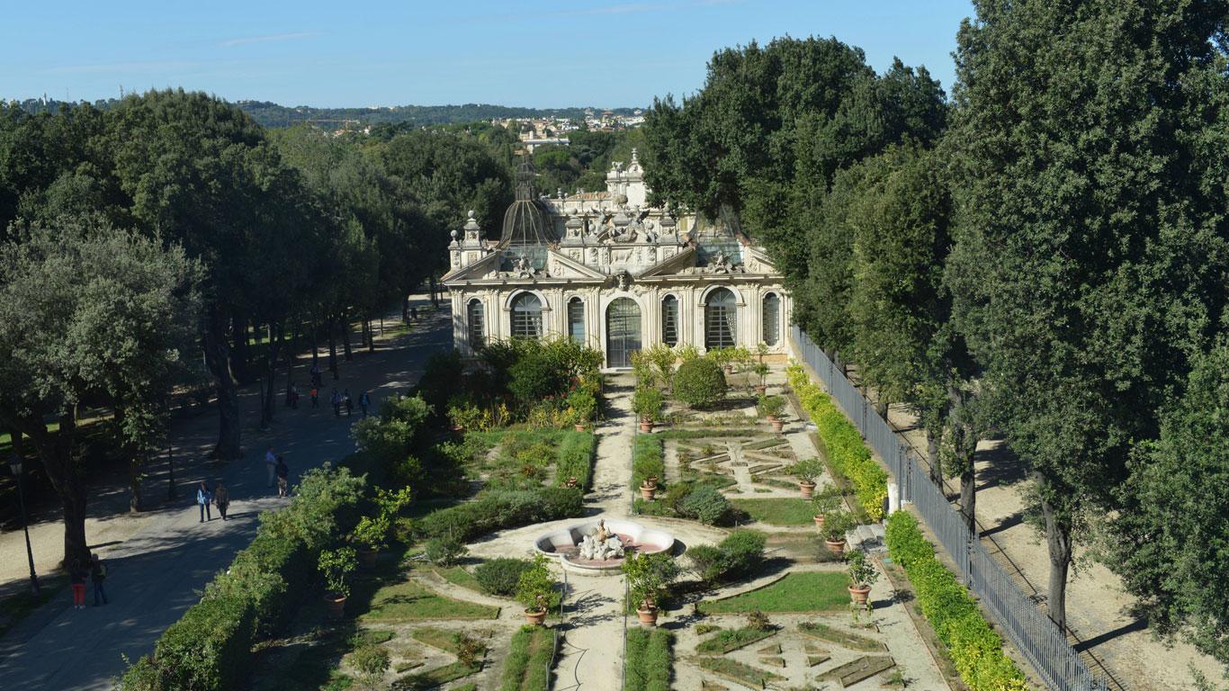 Rom: Ein Park für Turteltauben
