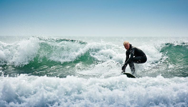 Wellenreiten im arktischen Ozean