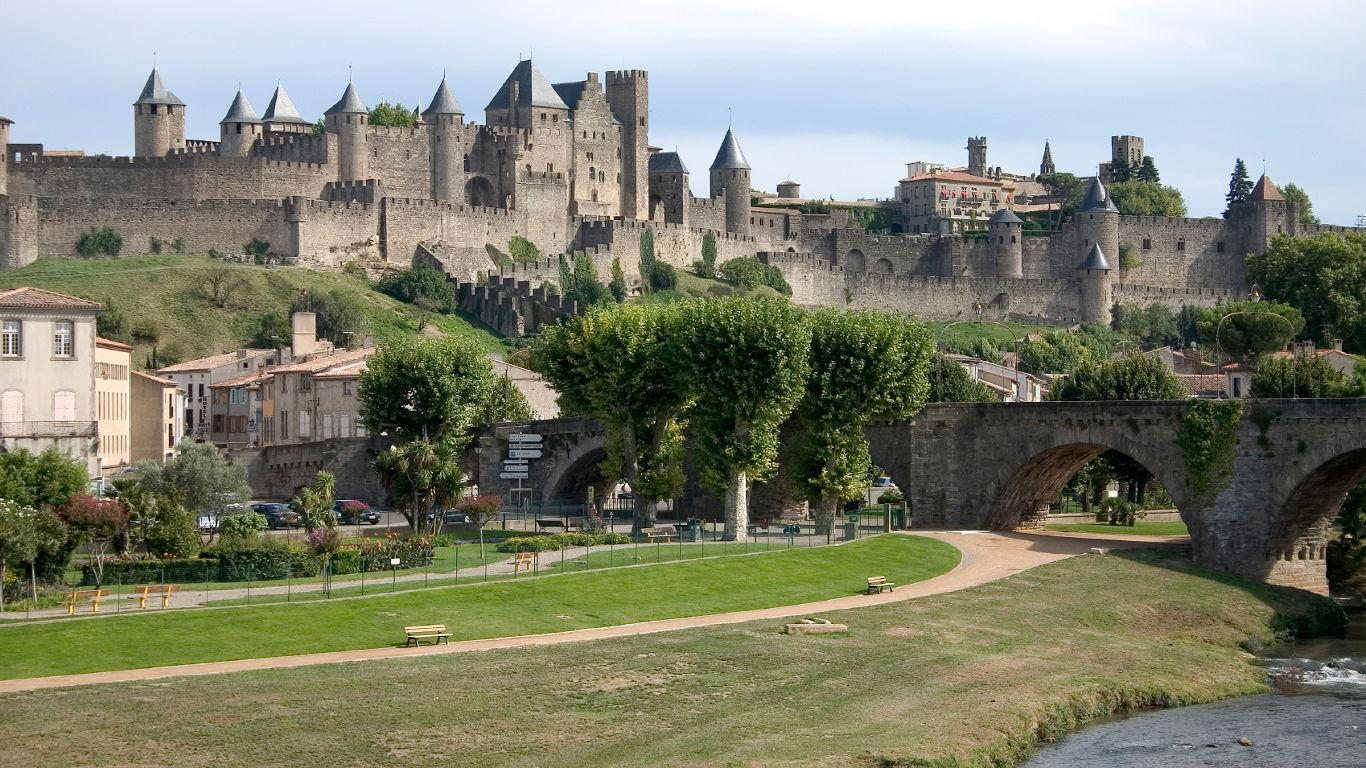 Die Cité von Carcassonne in Frankreich