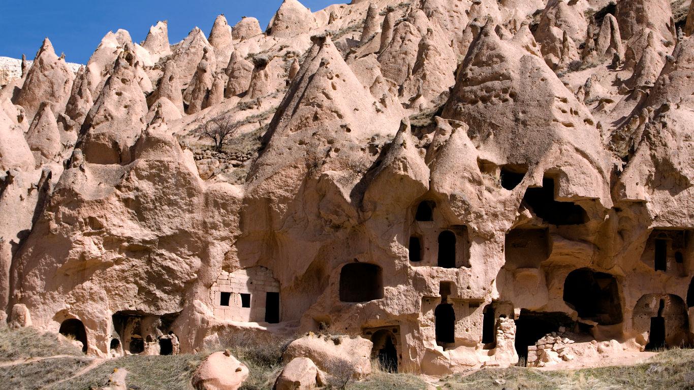 Der Nationalpark Göreme und die Felsendenkmäler von Kappadokien in der Türkei