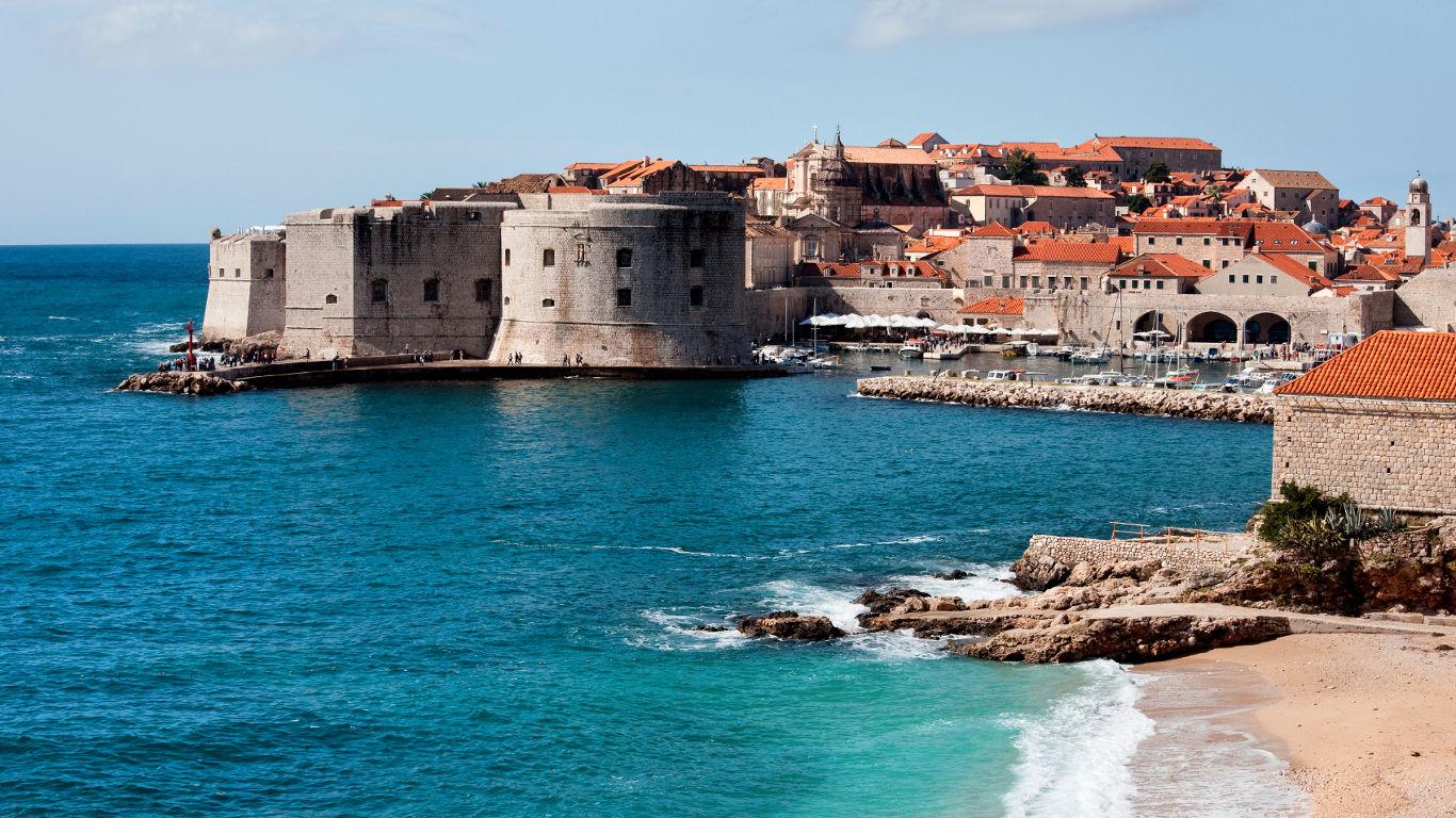 Die historische Altstadt von Dubrovnik in Kroatien