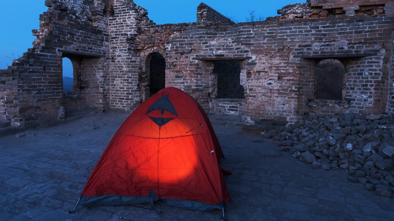 Traditionelles Campen