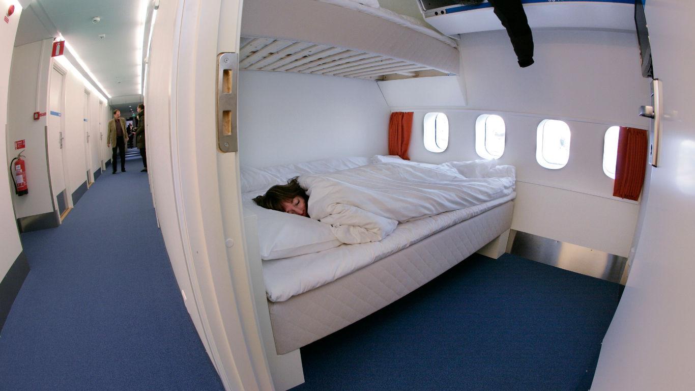 Pilotenkabine in einem Flugzeug bei Stockholm