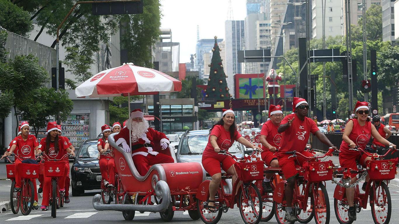 Fauler Santa in São Paulo