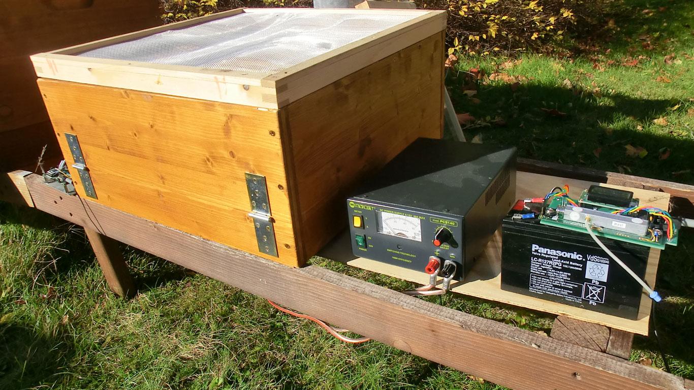 Prototyp der Bienen-Sauna