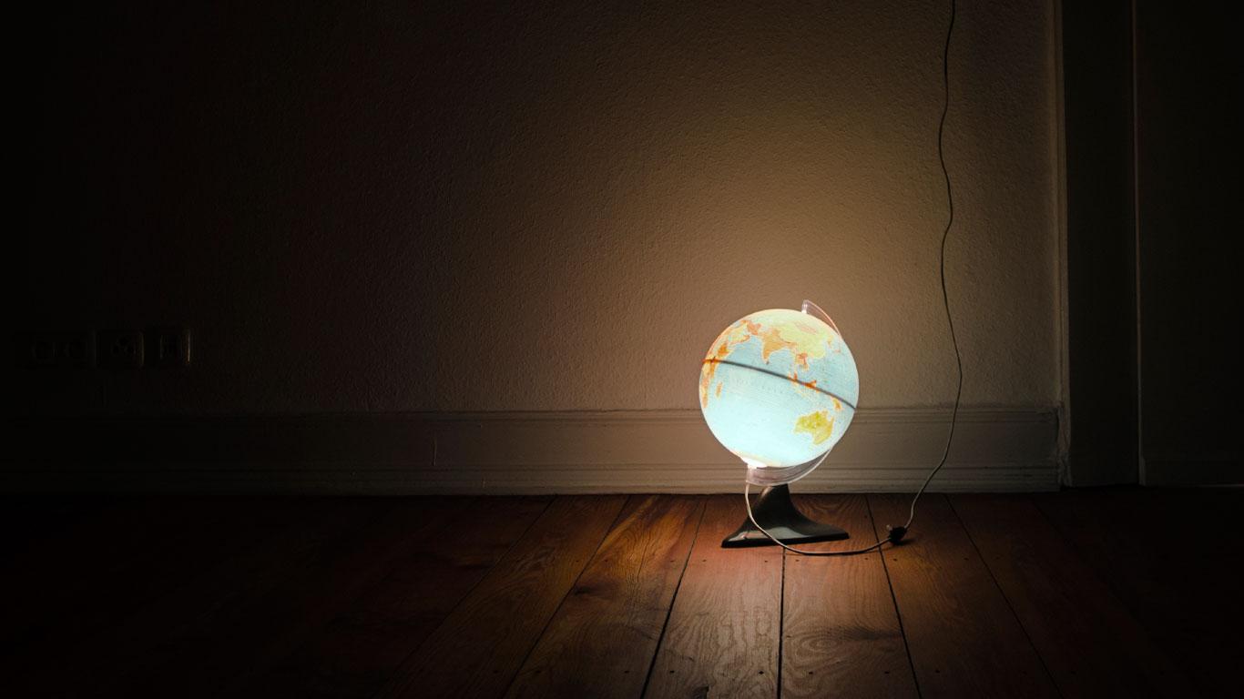 Globus als Lampe